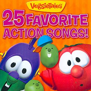 25 FAVORITE ACTION SONGS BY VEGGIE TALES (CD)